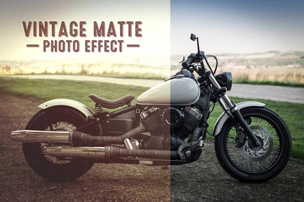 Vintage matte photo effect