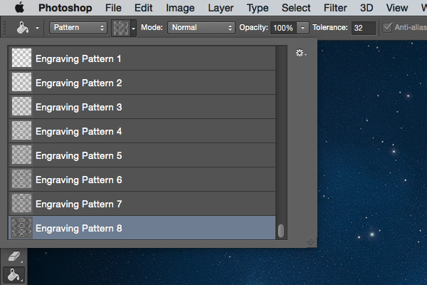 Load the pattern files first