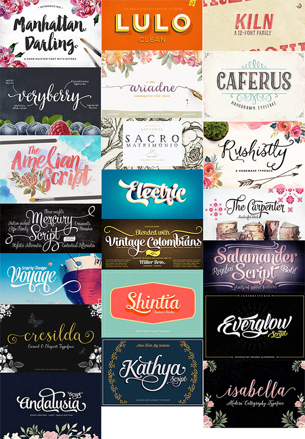 21 Beautiful Fonts Bundle
