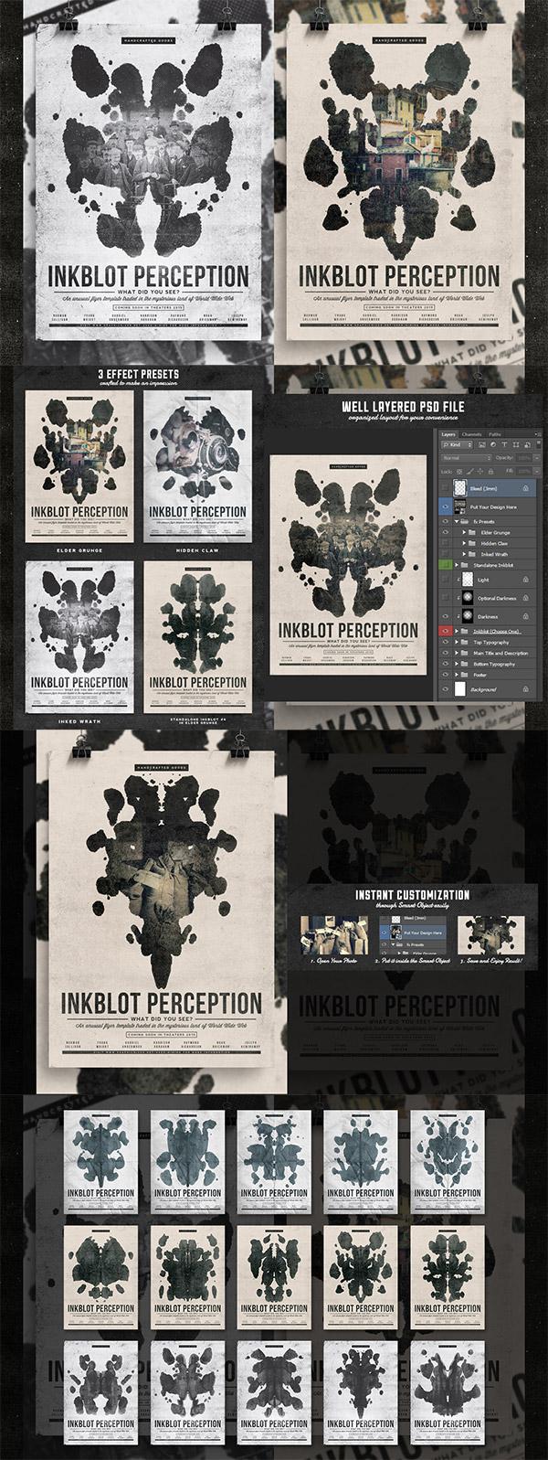 Inkblot Perception Flyer Template