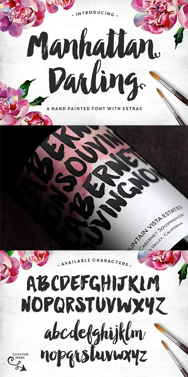 Manhattan Darling font preview