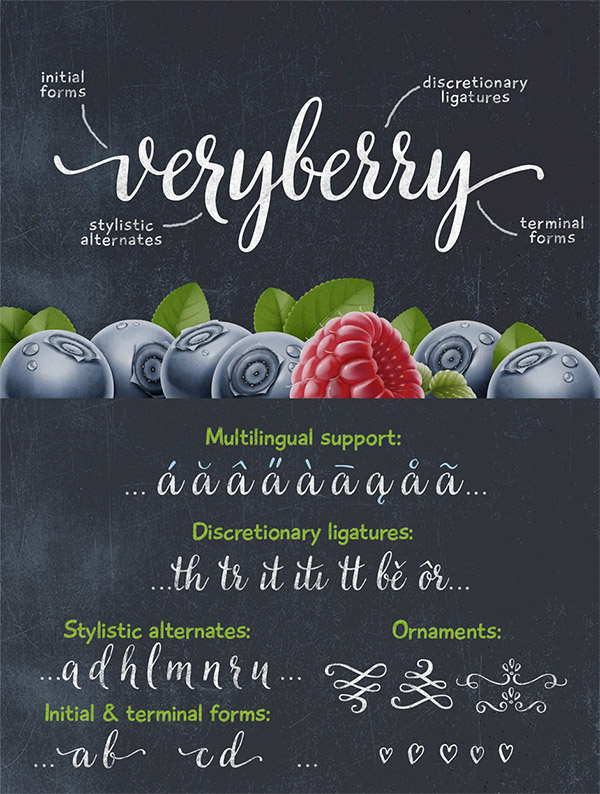 VeryBerry font preview