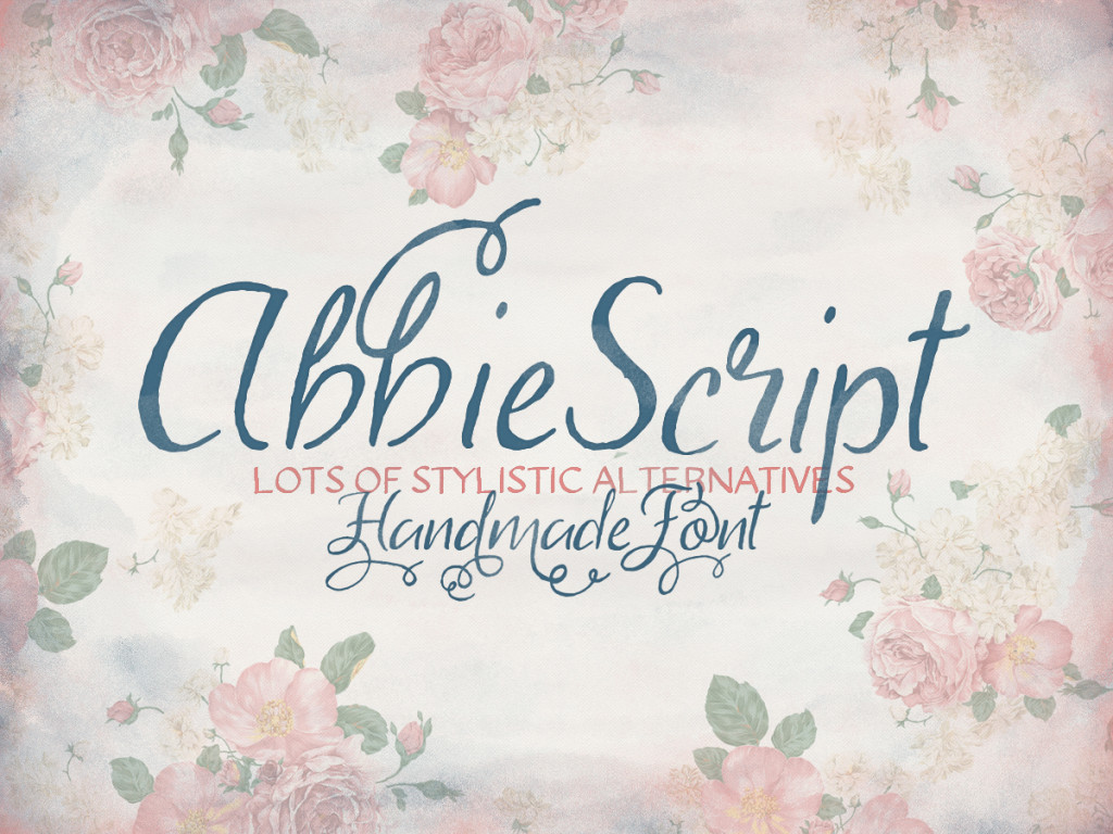 Abbie Script Pro Font For Access All Areas Members