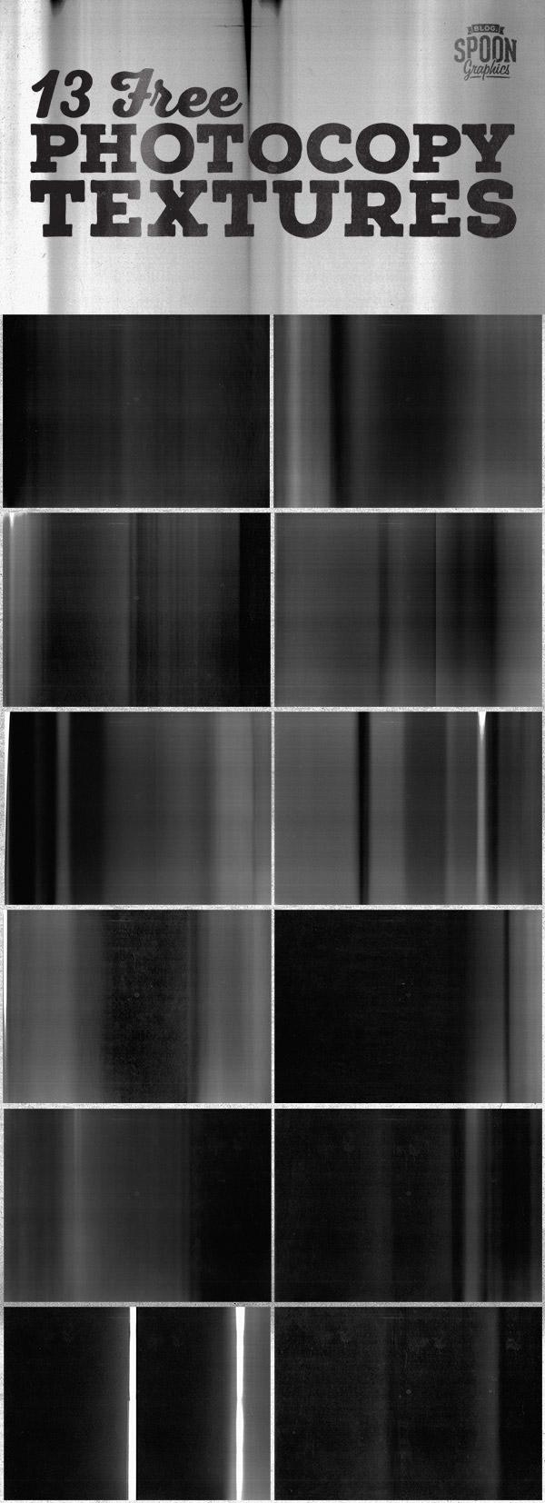 13 Free Photocopy Textures