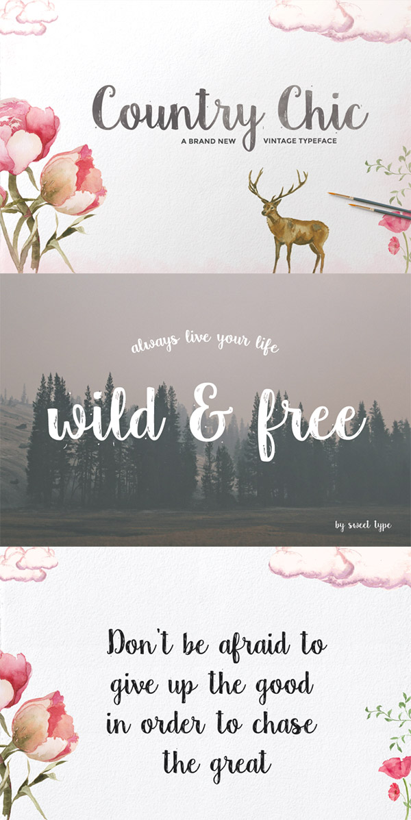Country Chic font preview