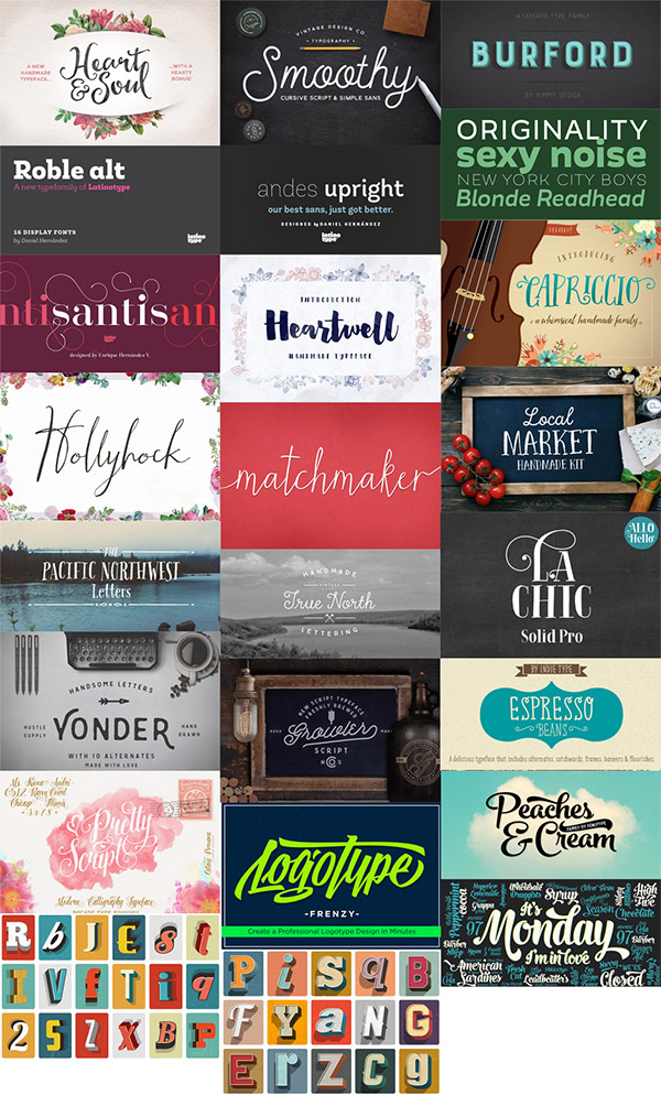 22 Best Selling Gorgeous Fonts Preview