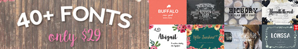A Massive Bundle of 40 Premium Fonts for Just $29