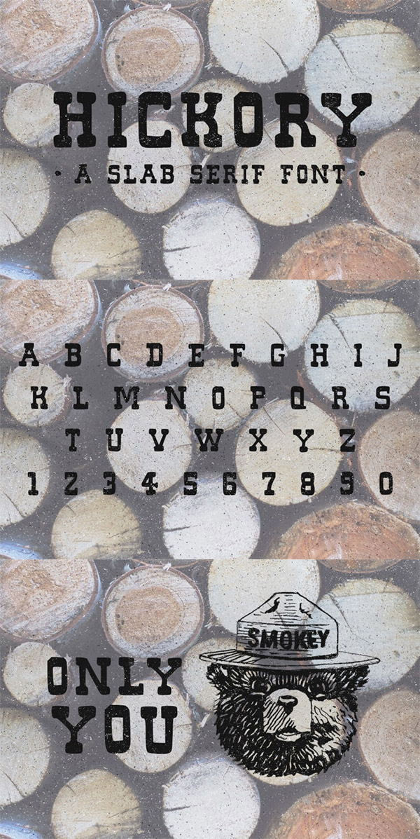 Hickory font preview