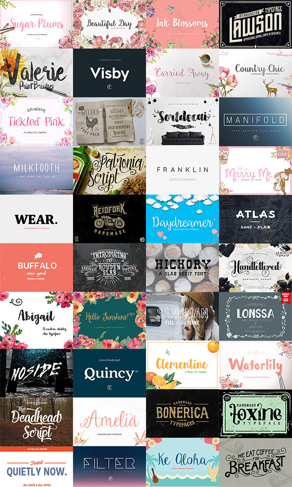 40 fonts super bundle