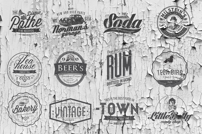 50 vintage logo templates for premium members