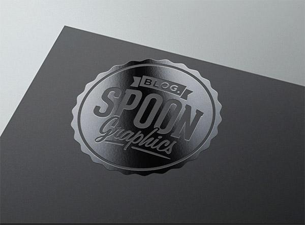 Spot varnish mockup