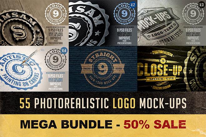 55 Photorealistic Logo Mock-ups