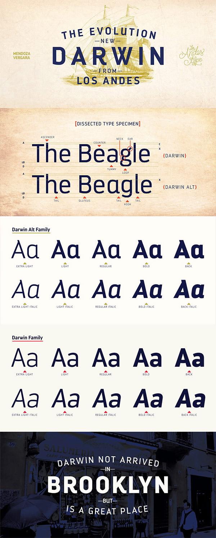 Darwin font preview