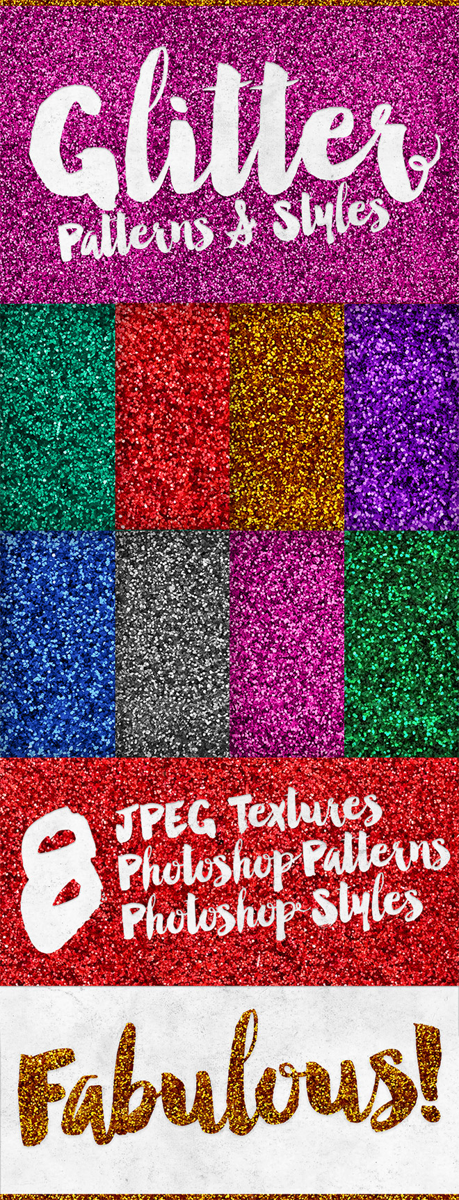 Free Glitter Effect Patterns & Styles for Photoshop