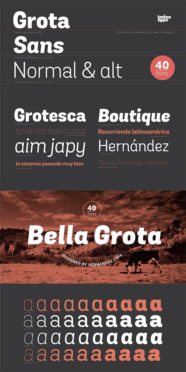 Grota Sans font preview