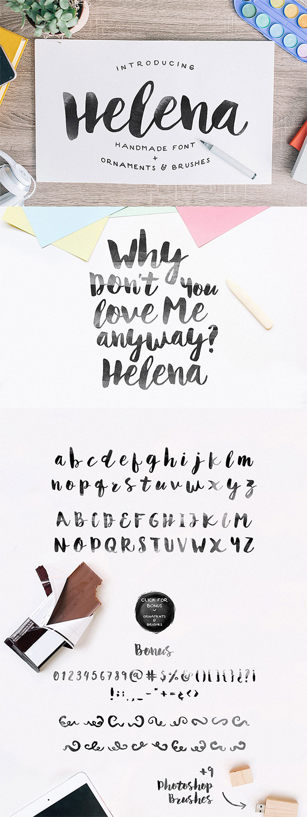 Helena font preview