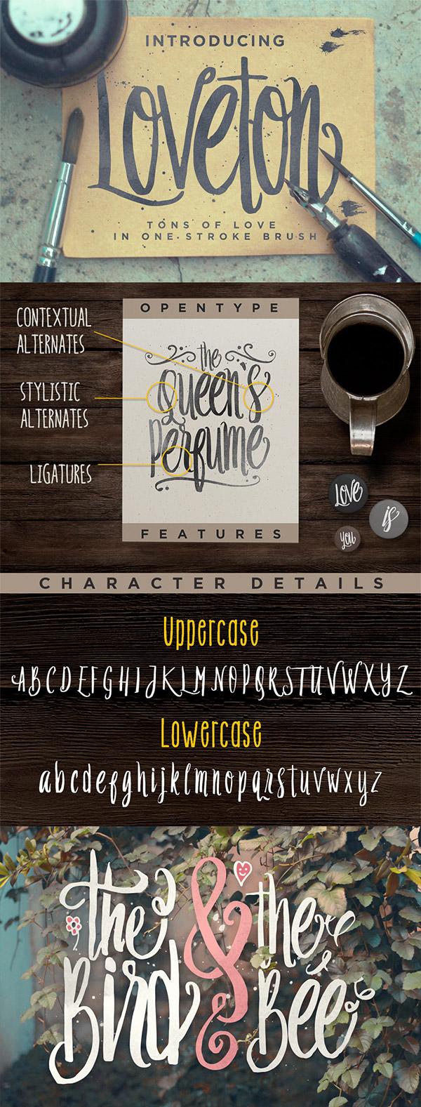 Loveton font preview