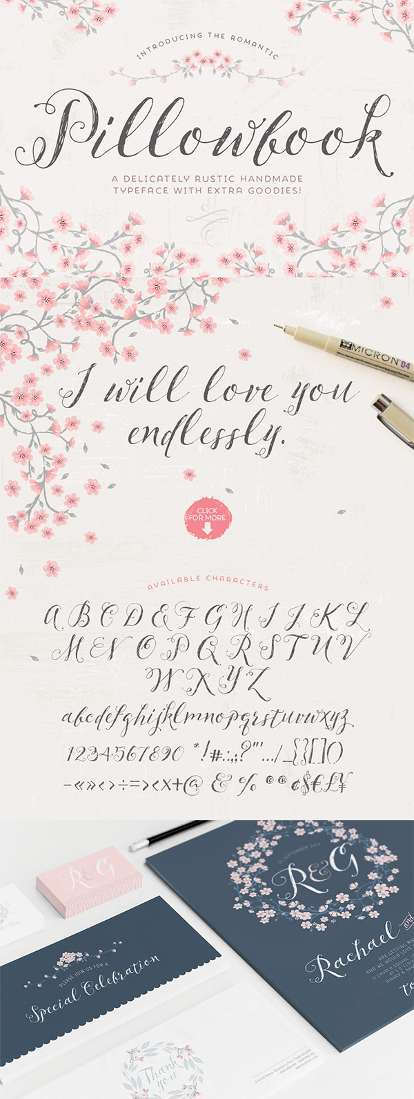 Pillowbook font preview