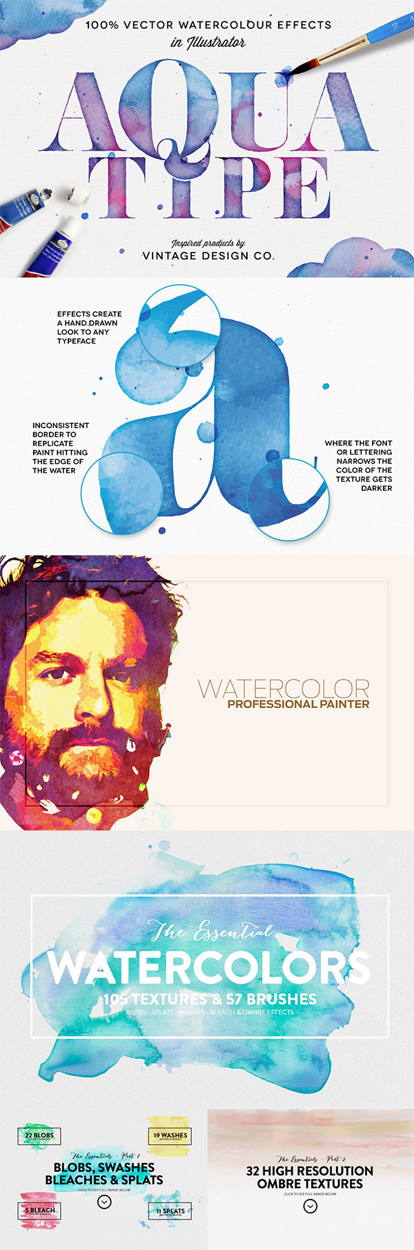 Watercolour effect resources