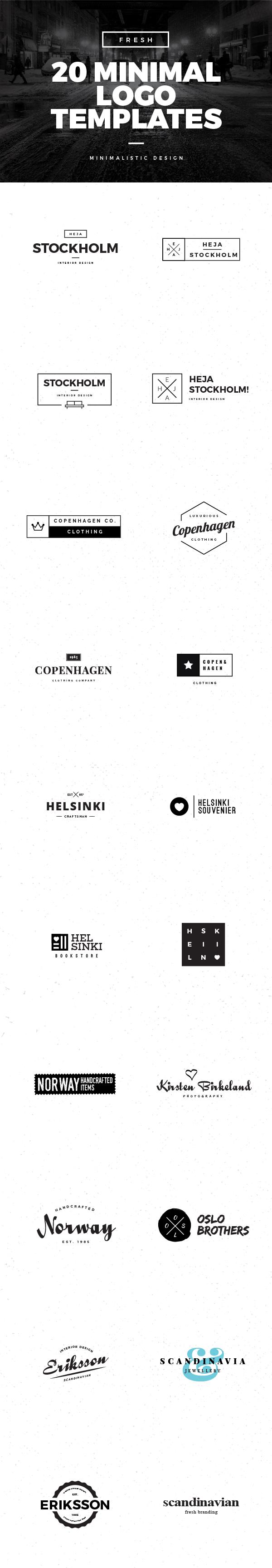 20 Minimal Logo Templates