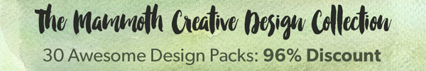 A Mammoth Variety Pack of Design Resources. Just $29