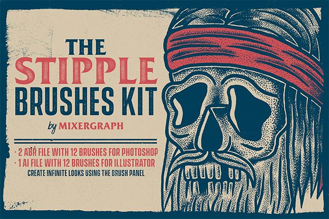 The Stipple Brushes Kit