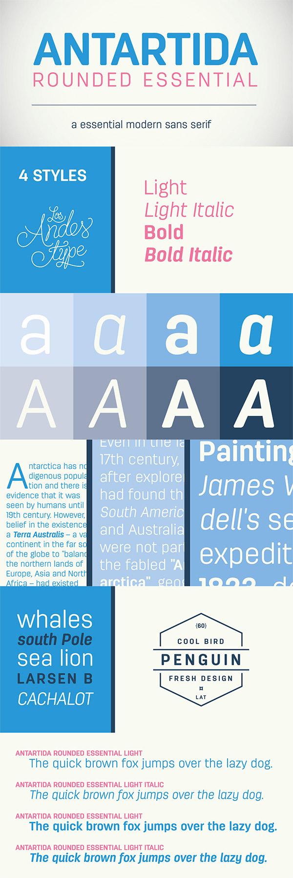 Antartida font preview