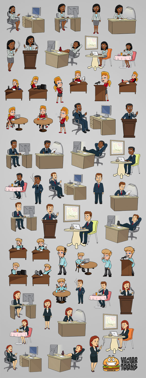 Vector Toons business collection