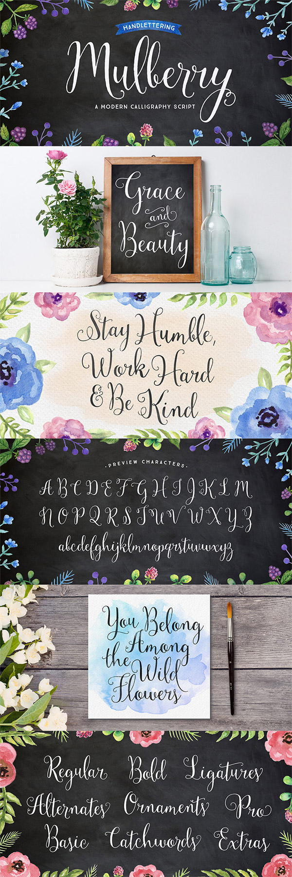 Mulberry font preview