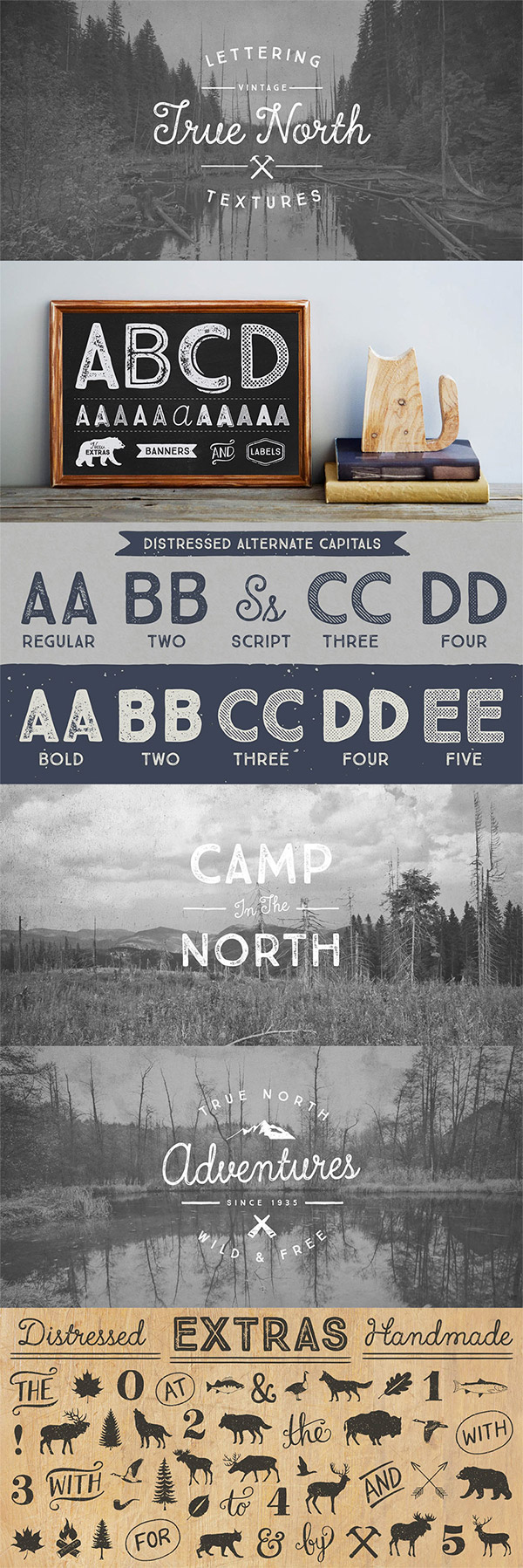 True North font preview