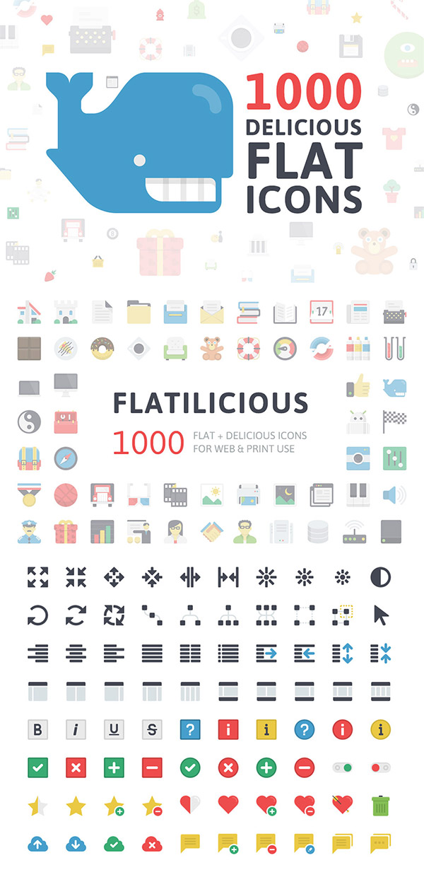 Flatilicious Icons preview