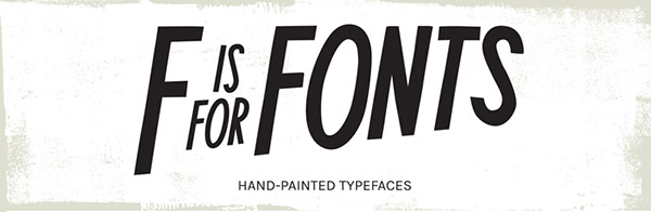 F is for Fonts