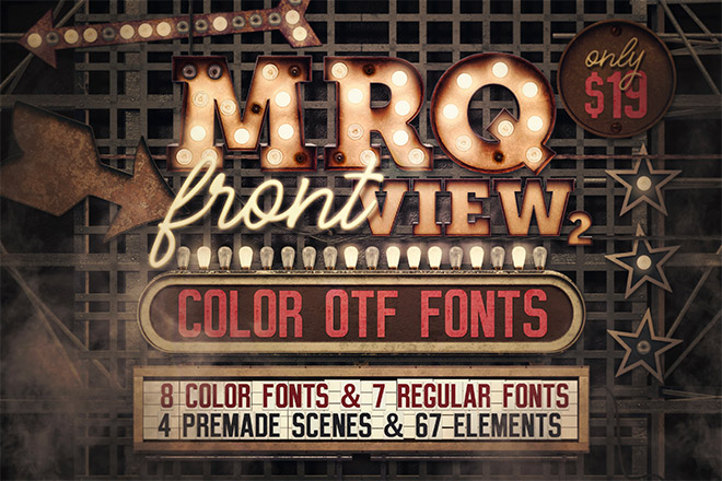 Marquee Front View – Color Fonts
