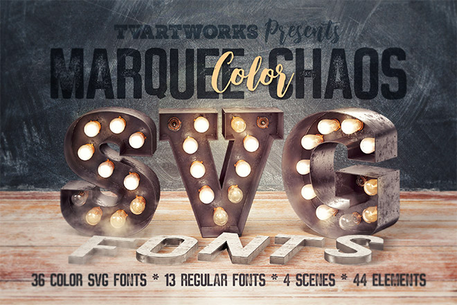 Marquee Chaos View – Color Fonts
