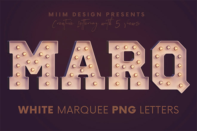 White Marquee - 3D Lettering
