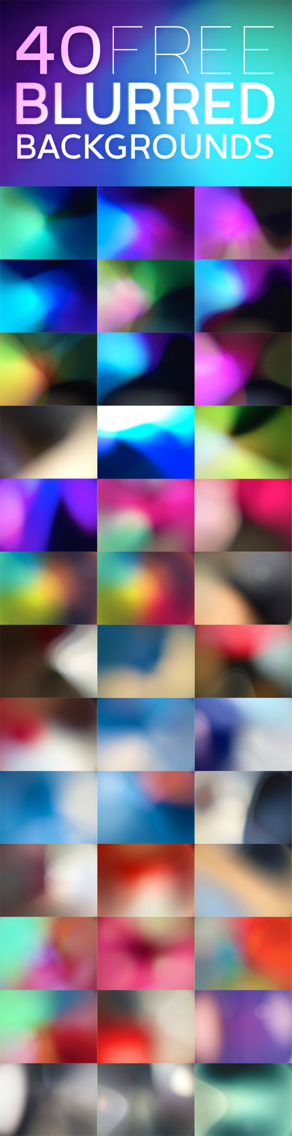 40 Free Blurred Backgrounds