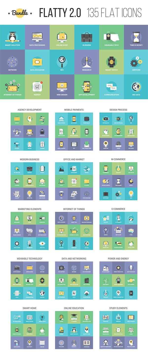 Flatty Icons