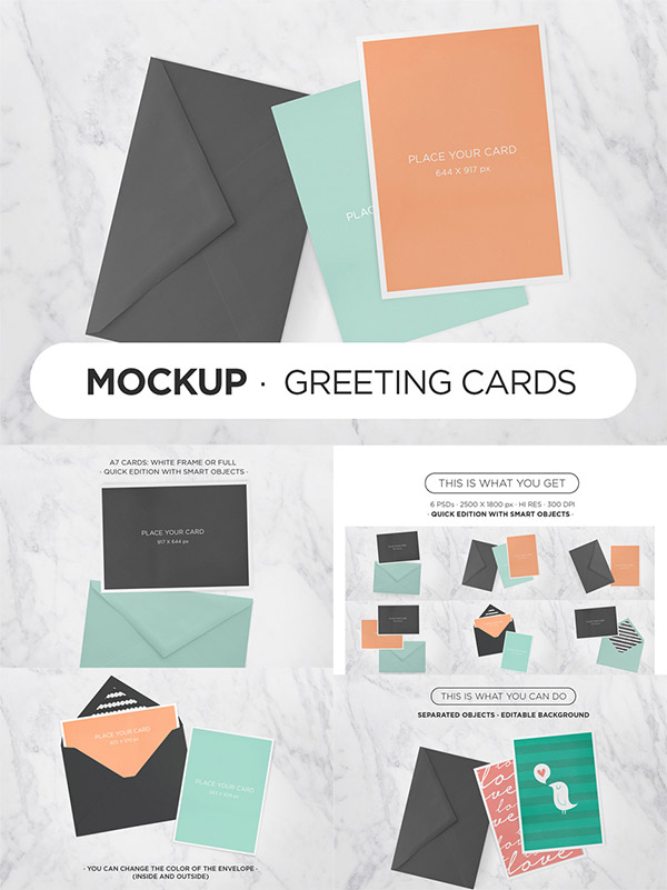 Greeting Cards Mockups