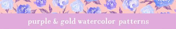 16 Floral Watercolor Patterns for Premium Members