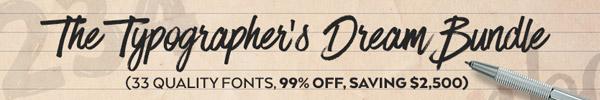The Typographer's Dream Bundle: 99% Off 33 Pro Fonts