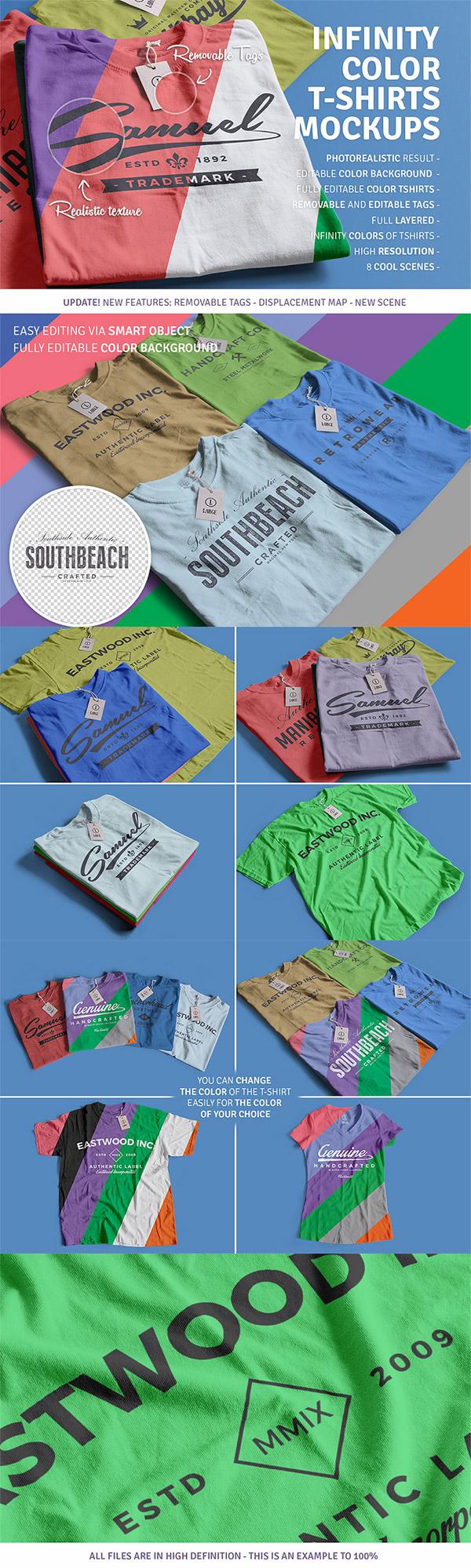 Infinity T-Shirt Mockups