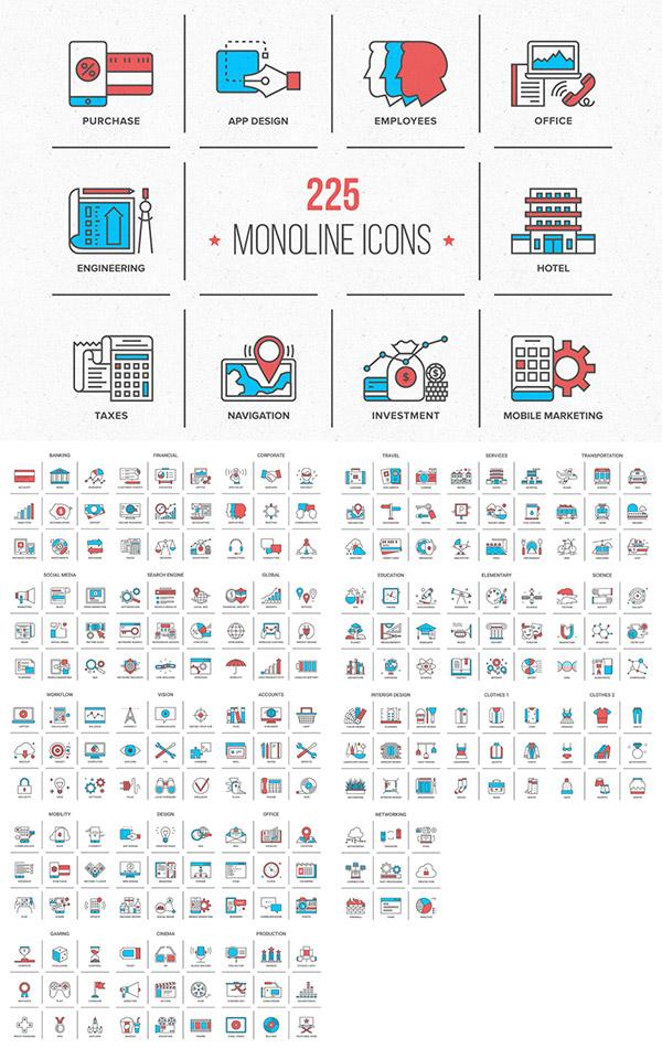 Monoline Icons