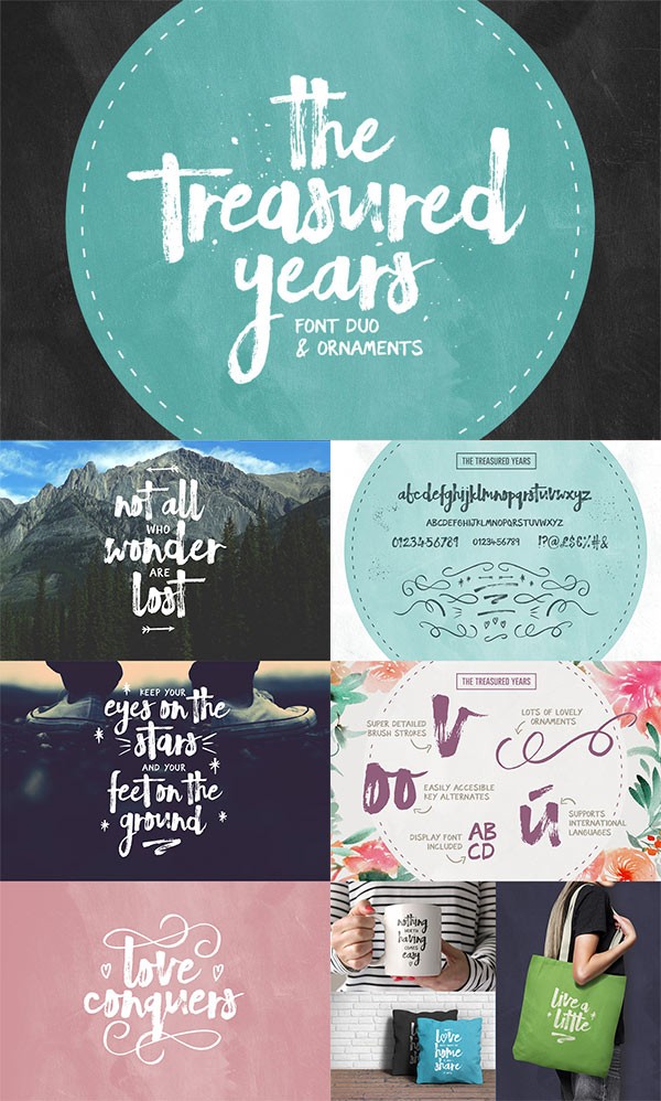 The Treasured Years Font Duo