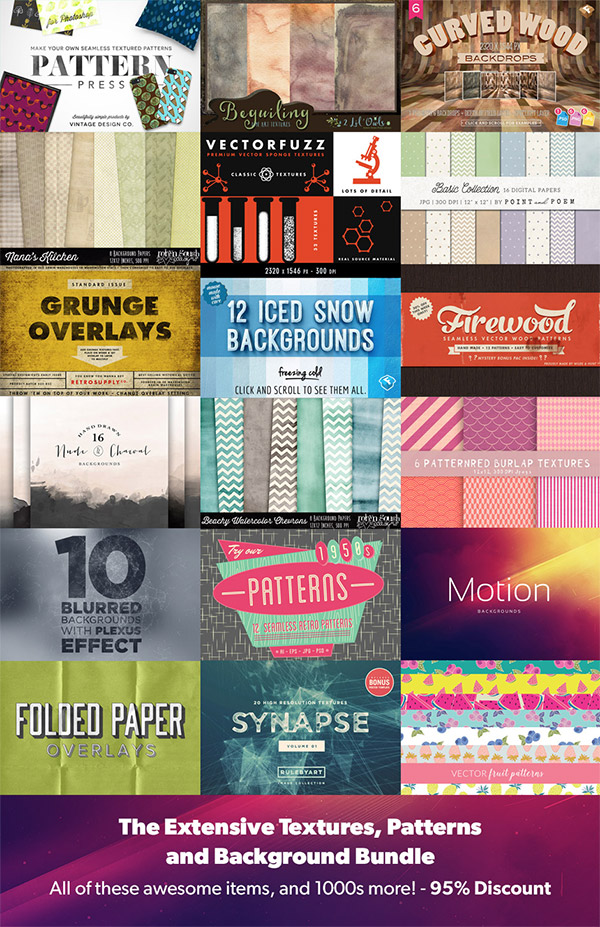The Extensive Textures, Patterns and Backgrounds Bundle