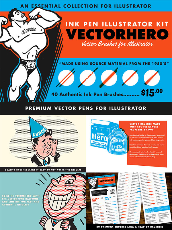 VectorHero – Brushes for Illustrator