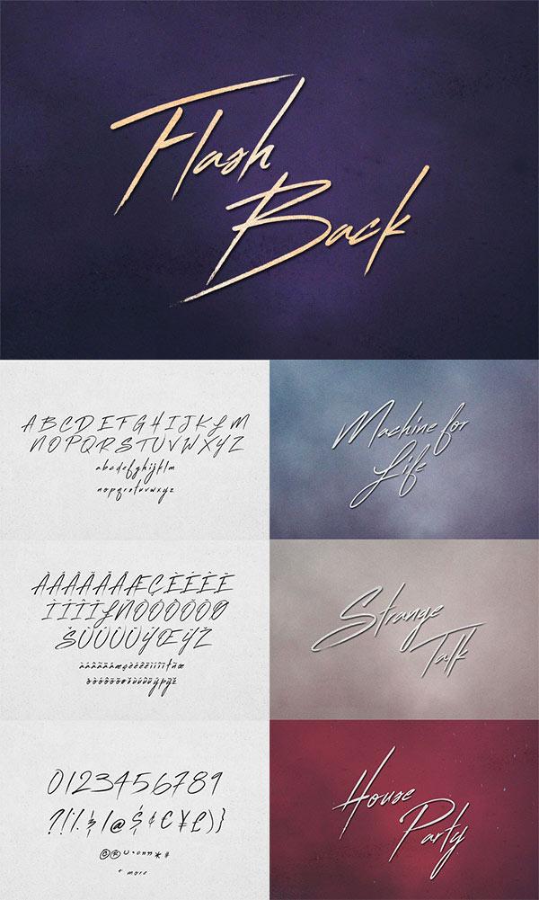 Flash Back Font