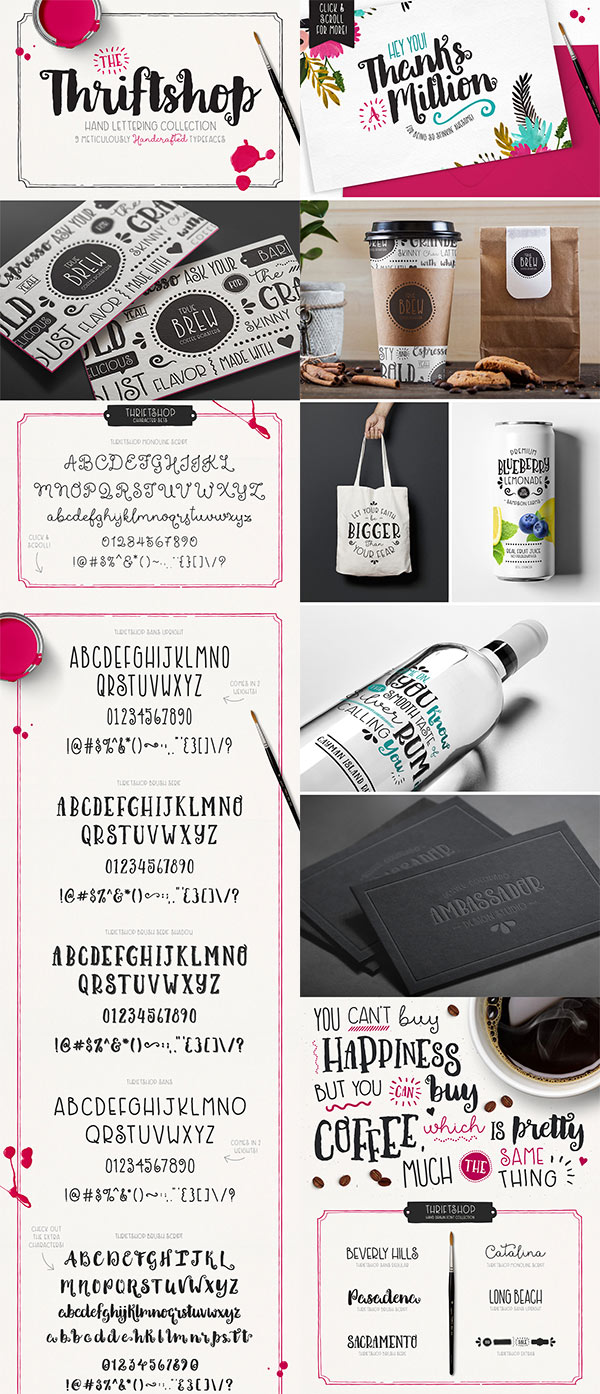 Thriftshop Hand Lettering Collection