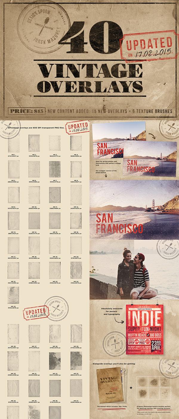 40 Vintage Overlays