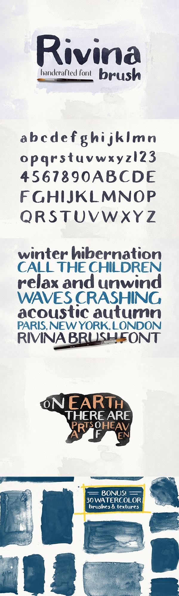 Rivina Brush font