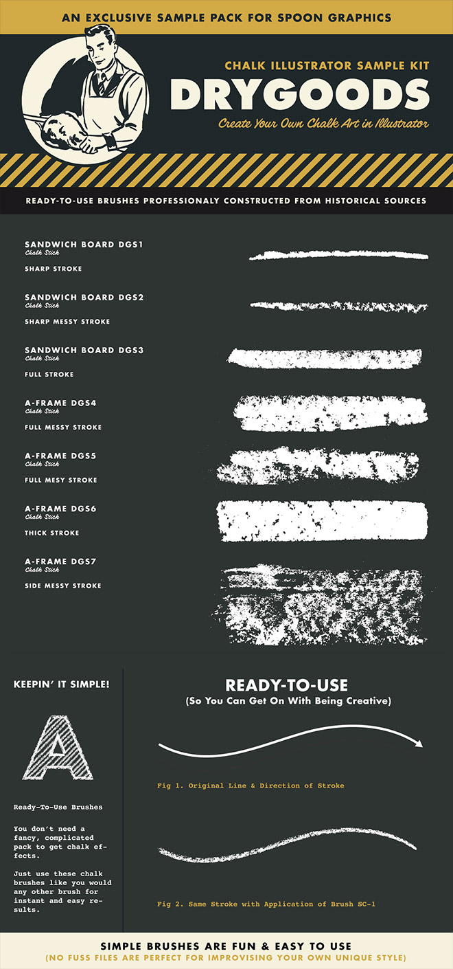 DryGoods Illustrator Brushes